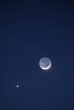 USA, California. Moon, Venus and Pluto in the Night Sky Photo by Dennis Flaherty
