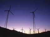 USA, California, Palm Springs, View of Wind Turbines at Sunset Photo by Zandria Muench Beraldo