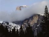 California, Sierra Nevada, Yosemite NP, Half Dome with Snow and Clouds Photo by Christopher Talbot Frank