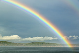 USA, Washington State, Seabeck. Rainbow over Hood Canal Photo by Don Paulson