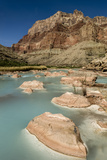 Colorado River. Calcium Carbonate Colors. Grand Canyon. Arizona Photo by Tom Norring