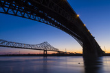 Bridges over the Mississippi River at Dawn in St. Louis, Missouri Photo by Jerry & Marcy Monkman