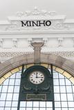 Europe, Portugal, Oporto, Clock in Train Station Photo by Lisa S. Engelbrecht