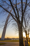 The Gateway Arch in St. Louis, Missouri at Sunrise. Jefferson Memorial Photo by Jerry & Marcy Monkman