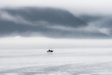 A Lone Fisher Boat Heading Out in the Fog of Morning Seward, Alaska Photo by Sheila Haddad