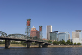USA, Oregon, Portland. Downtown and the Hawthorne Bridge Photo by Brent Bergherm