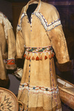 Athabaskan Dress Made from Caribou Skins Decorated with Shells. Alaska Photo autor Angel Wynn
