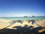 Hawaii Islands, Oahu, View of Lanikai Beach Photo by Douglas Peebles