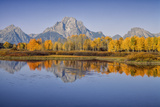 USA, Wyoming, Grand Teton NP, Mount Moran from Oxbow Junction Photo by John Ford