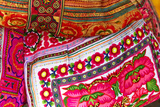 Mexico, Jalisco. Textiles for Sale at Street Market Photo by Steve Ross