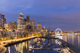 USA, Washington, Seattle. Night Time Skyline from Pier 66 Photo by Brent Bergherm