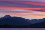 Washington, Seabeck. Sunset over the Olympic Mountains and Hood Canal Photo by Don Paulson