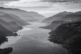 USA, Oregon, Aerial Landscape Looking West Down the Columbia Gorge Photo by Rick A Brown