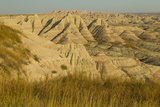 USA, South Dakota, Badlands NP. Grass and Eroded Formations Photo by Cathy & Gordon Illg