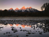 Wyoming, Rocky Mts, the Grand Tetons Reflecting in the Snake River Photo av Christopher Talbot Frank