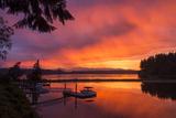 Dramatic Sunset Bainbridge Island Toward Olympic Mountains Photo by Trish Drury
