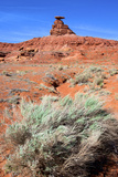 Mexican Hat Rock in the San Juan River Valley, on Highway 261, Utah Photo by Richard Wright