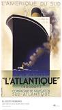 L'Atlantique Posters by A.M. Cassandre
