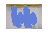 Blue Elegy Serigraph by Robert Motherwell