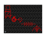 Engineering Symbols RED Photographic Print by Thinker Collection STEM Art by Lisa C Clark