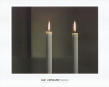 Two Candles Prints by Gerhard Richter