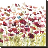 Into the Garden Stretched Canvas Print by Rebecca Meyers