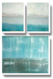 Twilight Blues Stretched Canvas Print by Caroline Gold