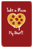 Take A Pizza My Heart Polka Dots Photo