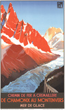 Chamonix au Montenvers Collectable Print by Roger Soubie