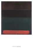Red-Brown, Black, Green, Red Poster by Mark Rothko