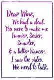 Dear Wine Plakater