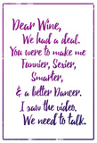Dear Wine Prints