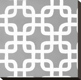 Latticework Tile IV Stretched Canvas Print by Hope Smith