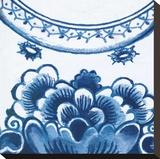 Delft Design III Stretched Canvas Print by Sue Damen