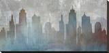 Urban Reflections Stretched Canvas Print by Louis Duncan-He