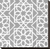 Latticework Tile III Stretched Canvas Print by Hope Smith
