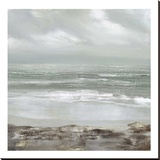 Grey Dawn Stretched Canvas Print by Caroline Gold