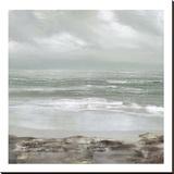 Grey Dawn Stretched Canvas Print by Caroline Gold