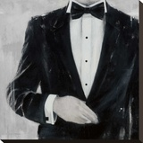 Black Tie Optional Stretched Canvas Print by Andrea Stajan-ferkul
