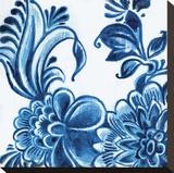 Delft Design IV Stretched Canvas Print by Sue Damen