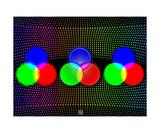 Thinker Collection STEM Art by Lisa C Clark - Color Theory Fotografická reprodukce