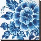 Delft Design II Stretched Canvas Print by Sue Damen
