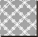 Latticework Tile I Stretched Canvas Print by Hope Smith