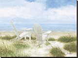 Beach Chairs Stretched Canvas Print by Arnie Fisk