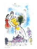 Dans le Ciel de l'Opera Collectable Print by Marc Chagall