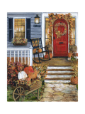 Pumpkin Porch Photographic Print by Marilyn Dunlap