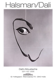 Dali's Moustache Posters by Phillipe Halsman