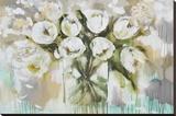 Pure Blanc Tulipa Stretched Canvas Print by Amanda J. Brooks