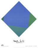 Blue - Green Square ポスター : マクス・ビル