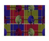 Thinker Collection STEM Art by Lisa C Clark - Very Large Array Plaid - FALL Fotografická reprodukce